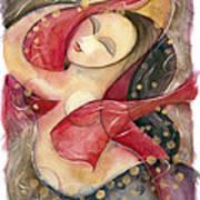 Circle Dancer Art Print by Jen Norton