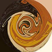 Circle Of Browns Art Print