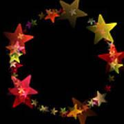 Circle Of Stars Art Print