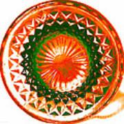 Circle Orange Art Print