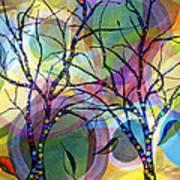 Circle Trees Art Print