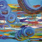Circles And Boats And Masts Art Print