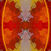 Circles Making Love Abstract Circular Artwork By Omaste Witkowsk Art Print