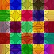 Circles Over Squares Art Print
