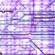 Circuit Trace Art Print