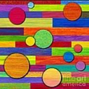 Circular Bystanders  Art Print by David K Small