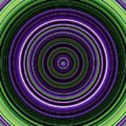 Circular Concentric Stripes In Multiple Colors Art Print