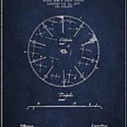 Circular Saw Patent Drawing From 1899 Art Print