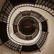 Circular Staircase In The Granitz Hunting Lodge Art Print