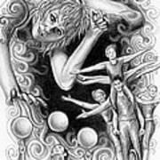 Circus Acrobats Art Print