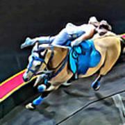 Circus Horse Trickster Art Print