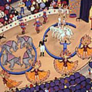 Circus Ladies Art Print