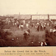 Circus Train Wreck, 1896 Art Print
