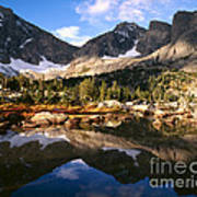 Cirque Of The Towers In Lonesome Lake 2 Art Print