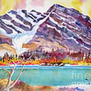 Cirrus Mountain Art Print