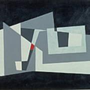 Citadel, Version 3, 1982 Oil On Hardboard Art Print
