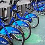 Citibike Rentals Nyc Art Print