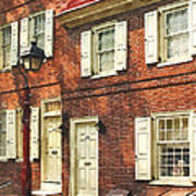 Cities - Philadelphia Brownstone Art Print