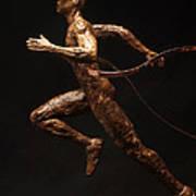 Olympic Runner Citius Altius Fortius  Art Print