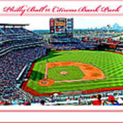 Citizens Bank Park Phillies Baseball Poster Image Art Print