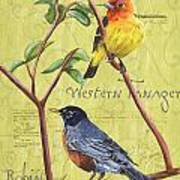 Citron Songbirds 2 Art Print