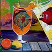 Citrus Sunset Art Print