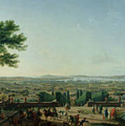 City And Port Of Toulon, 1756 Oil On Canvas Art Print