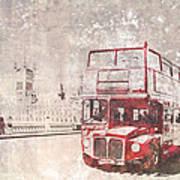 City-art London Red Buses II Art Print by Melanie Viola