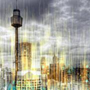 City-art Sydney Rainfall Art Print