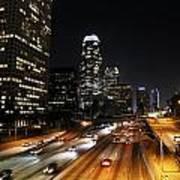 City At Night - Los Angeles Art Print