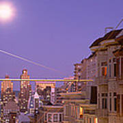 City At Night, San Francisco Art Print