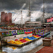 City - Baltimore Md - Modern Maryland Art Print by Mike Savad