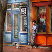 City - Baltimore Md - Waiting By Joe's Bike Shop  Art Print by Mike Savad