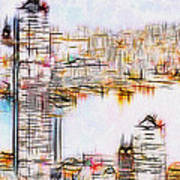 City By The Bay Art Print by Jack Zulli