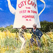City Cafe - Nostalgic Monroe North Carolina Art Print