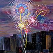 City Celebration San Francisco Bay Art Print
