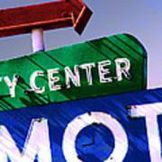 City Center Motel Art Print by Gail Lawnicki