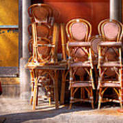 City - Chairs - Red Art Print
