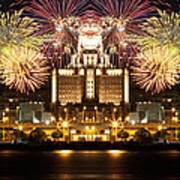 City Fireworks Art Print