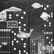 City Fish Edit 3 Art Print