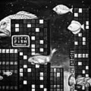 City Fish Edit 4 Art Print