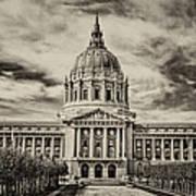 City Hall Antiqued Print Art Print