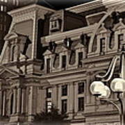 City Hall At Night Closeup Art Print