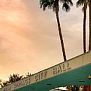 City Hall Sky Palm Springs City Hall Art Print