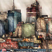 City - Hoboken Nj - New York Skyscrapers Art Print