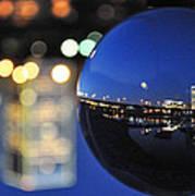 City In A Globe Art Print
