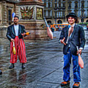 City Jugglers Art Print by Ron Shoshani