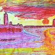 City Landscape 100 Art Print