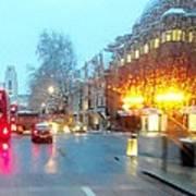 City Lights In London England Art Print