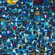 City Mosaic Art Print